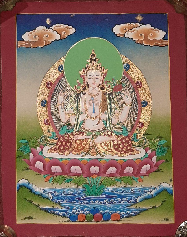 Tibetan Art Decor Chenrezig Thagnka