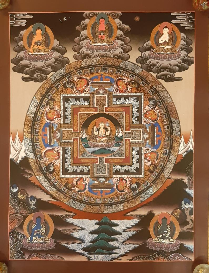 Chenrezig Mandala Wall Art