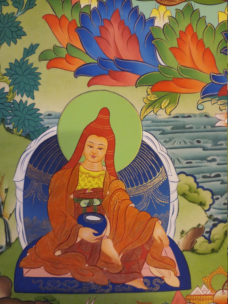 guru rinpoche art decor wall hanging