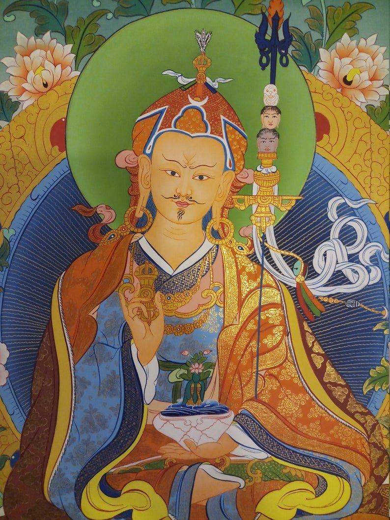 guru rinpoche wall hanging