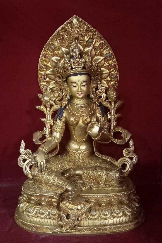 golden tara statue