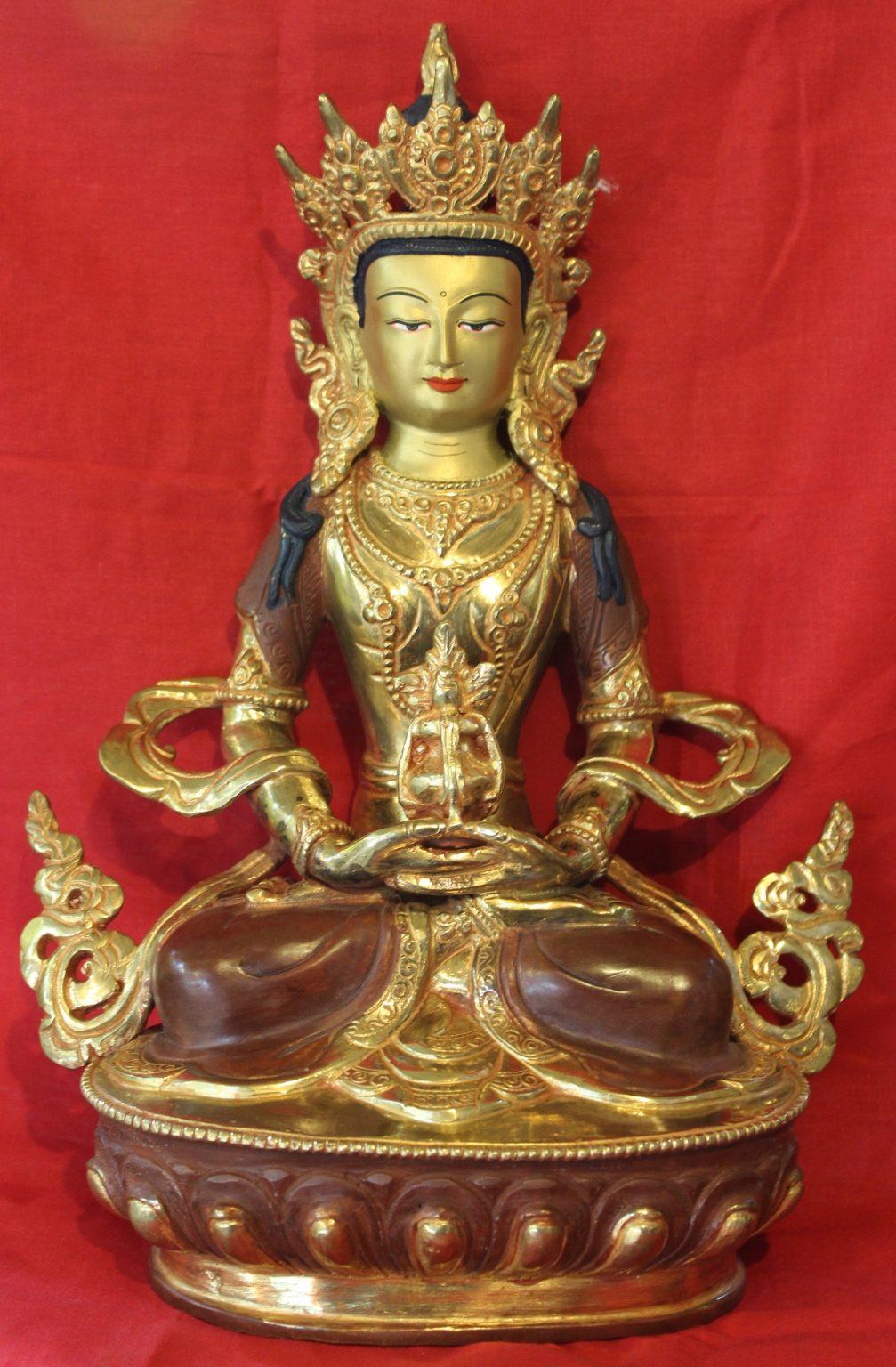 Aparmita Golden Buddha Figurine