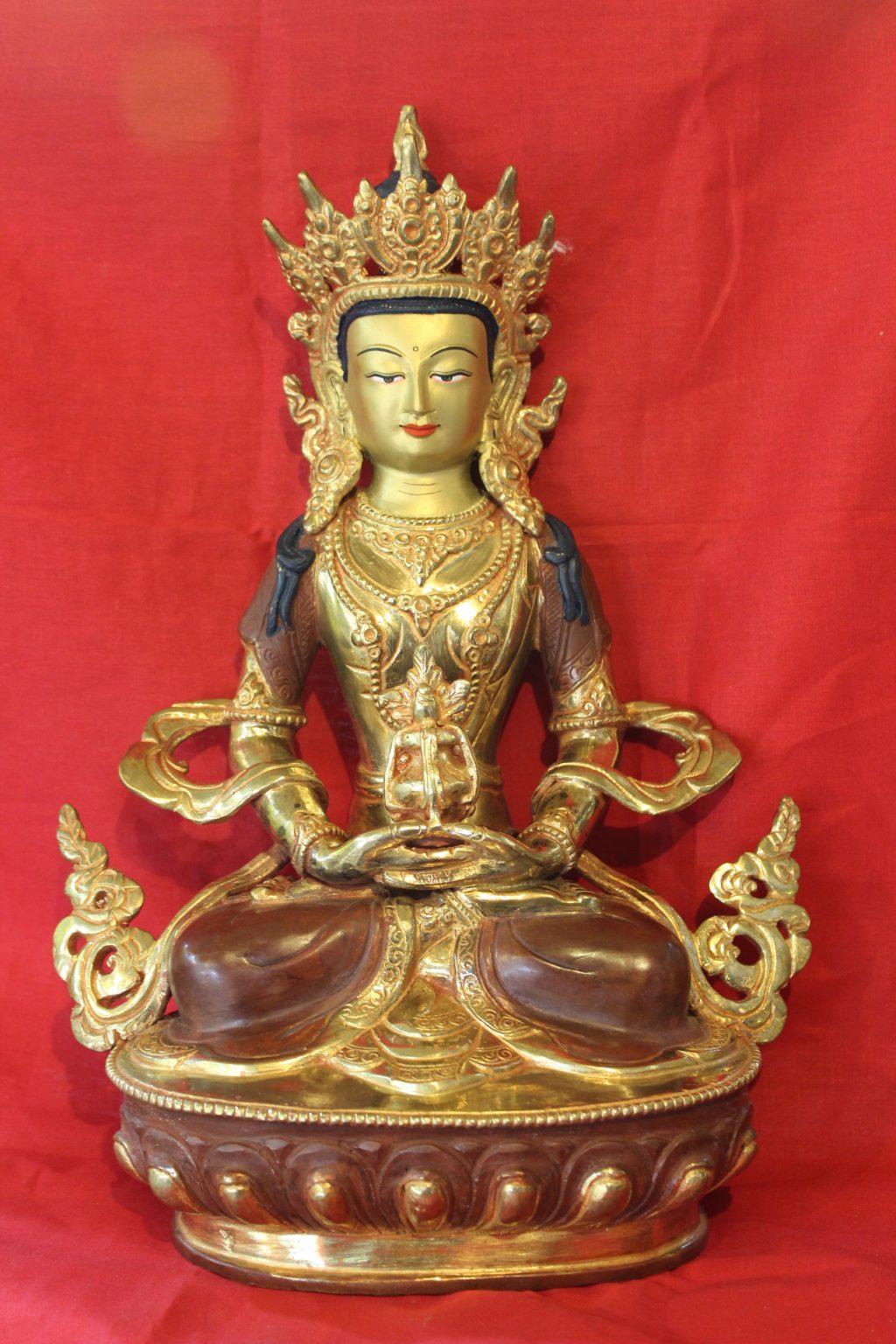 Aparmita golden buddha figutine deco