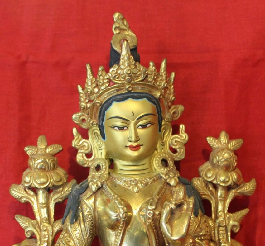 Green Tara Buddha Figurine
