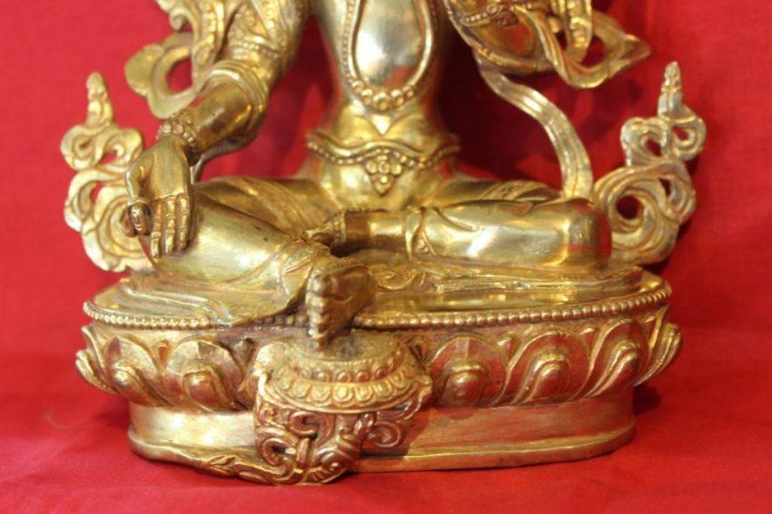 Green Tara Buddha Figurine - Buddhist Dharma