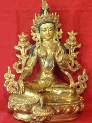 Green Tara Buddha Figurine - Buddhist Dharma Store Around Me