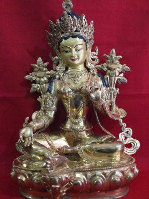 Green Tara Golden Buddha Statue !