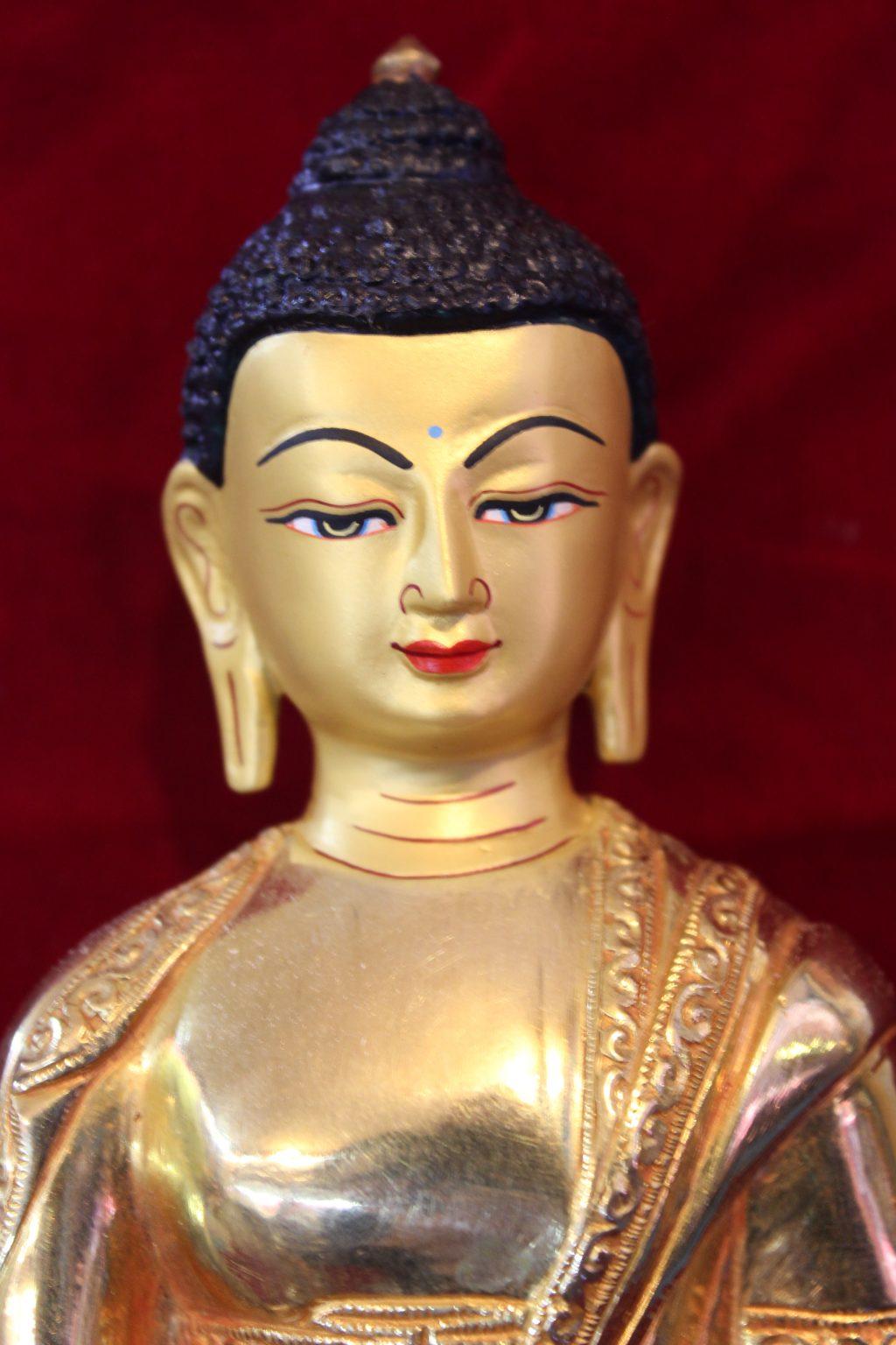 Shakyamuni Buddha Golden Figurine