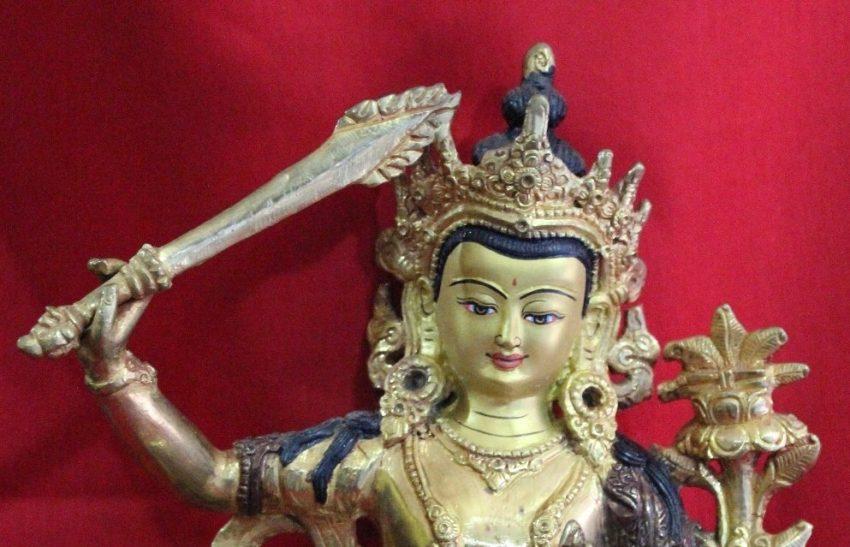 Manjushri Golden Buddha Statue Religious Gifts