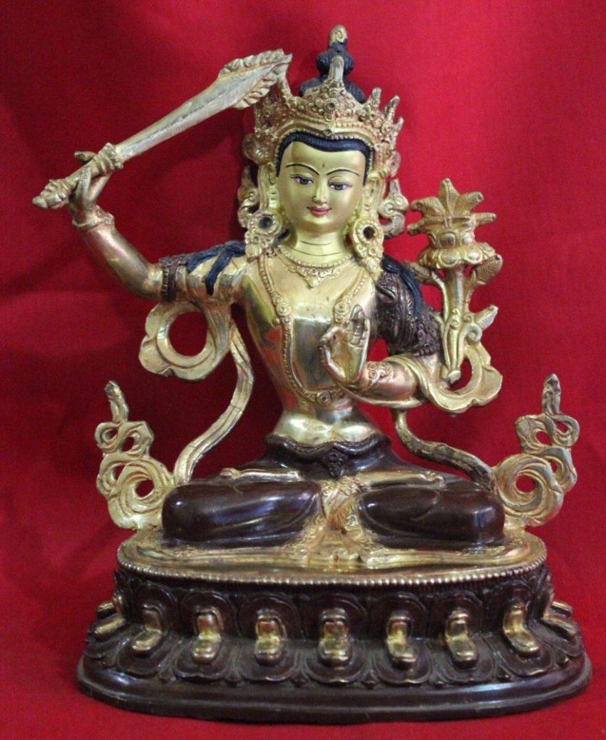 Manjushri Golden Buddha Statue