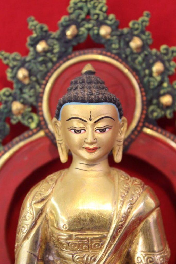 Shakyamuni Golden Buddha Statue - Special Buddhist Deco