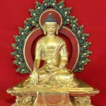 Shakyamuni Golden Buddha Statue - Special Buddhist Deco For Home