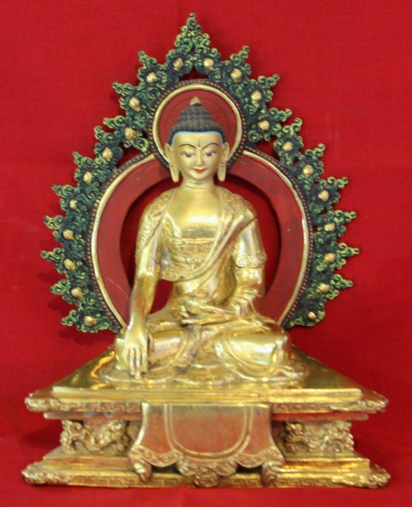 Shakyamuni Golden Buddha Statue - Special Buddhist Deco For Home