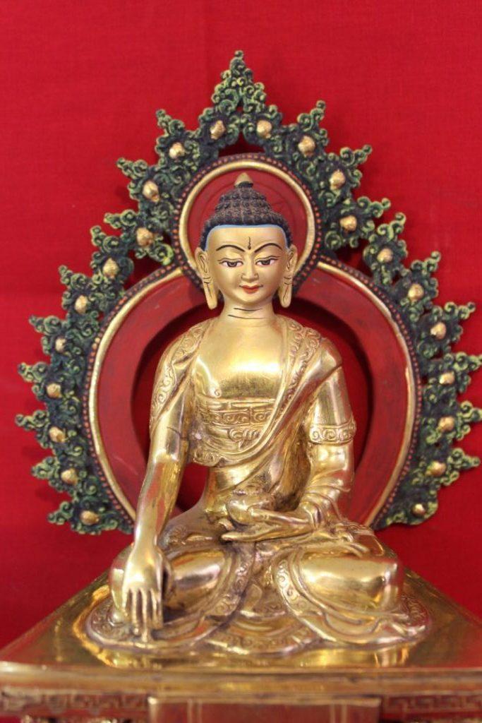 Shakyamuni Golden Buddha Statue - Special Buddhist For Home
