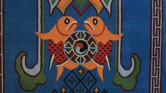 Asthamangala Eight Auspicious rug