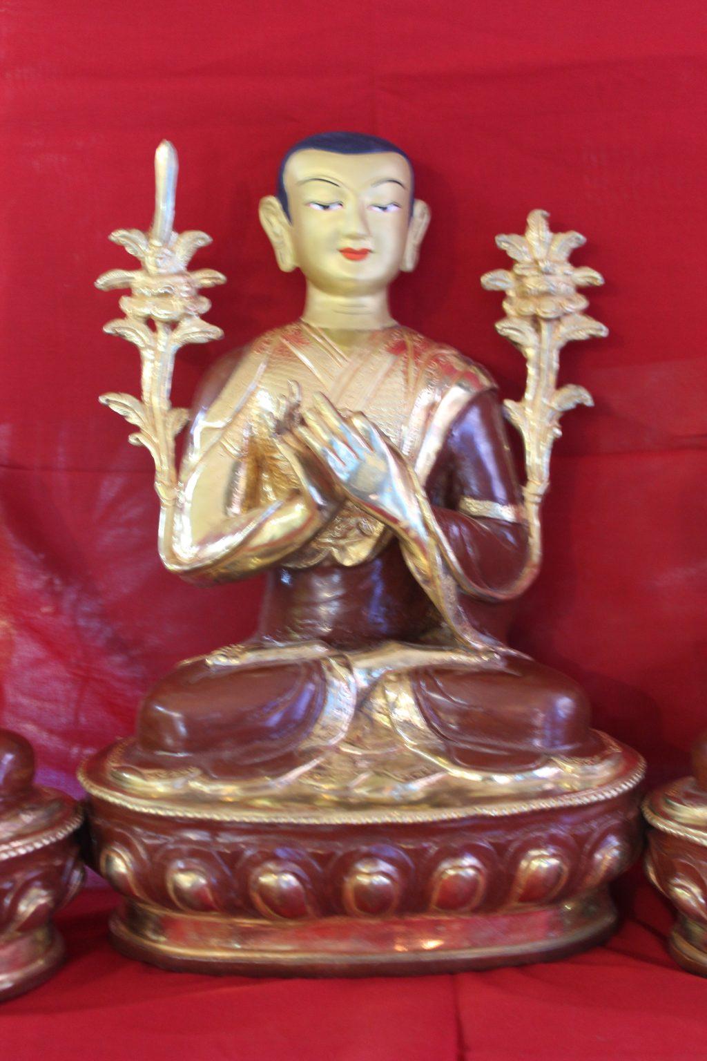 Tsongkapa Golden Buddha Set