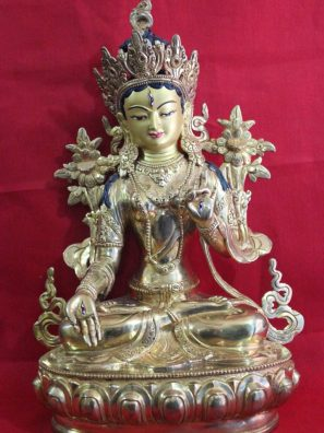 White Tara Buddha Statue presents