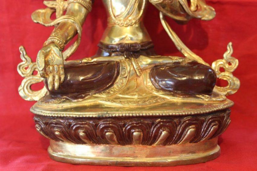 White Tara Golden Buddha Statue home