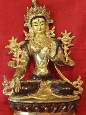 White Tara Golden Buddha Statue