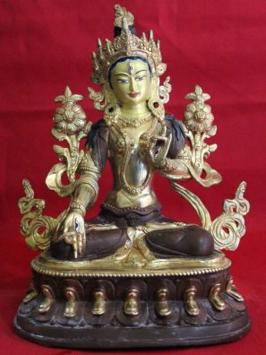 White Tara Golden Statue Decor