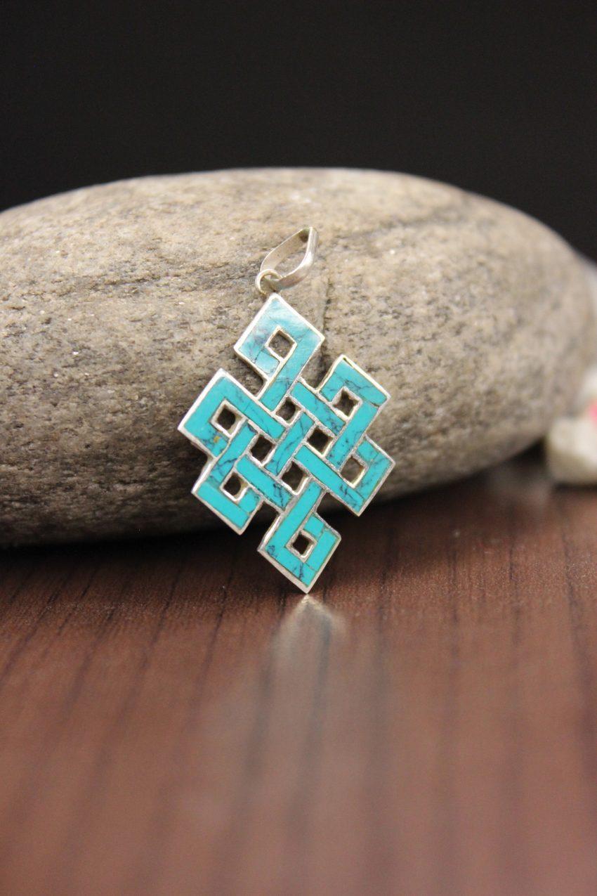 Blue Love Knot Pendant