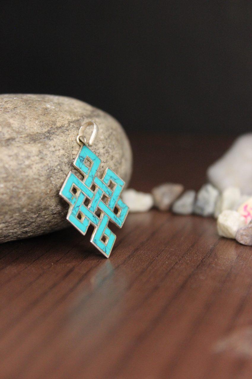 Blue Love Knot Pendants