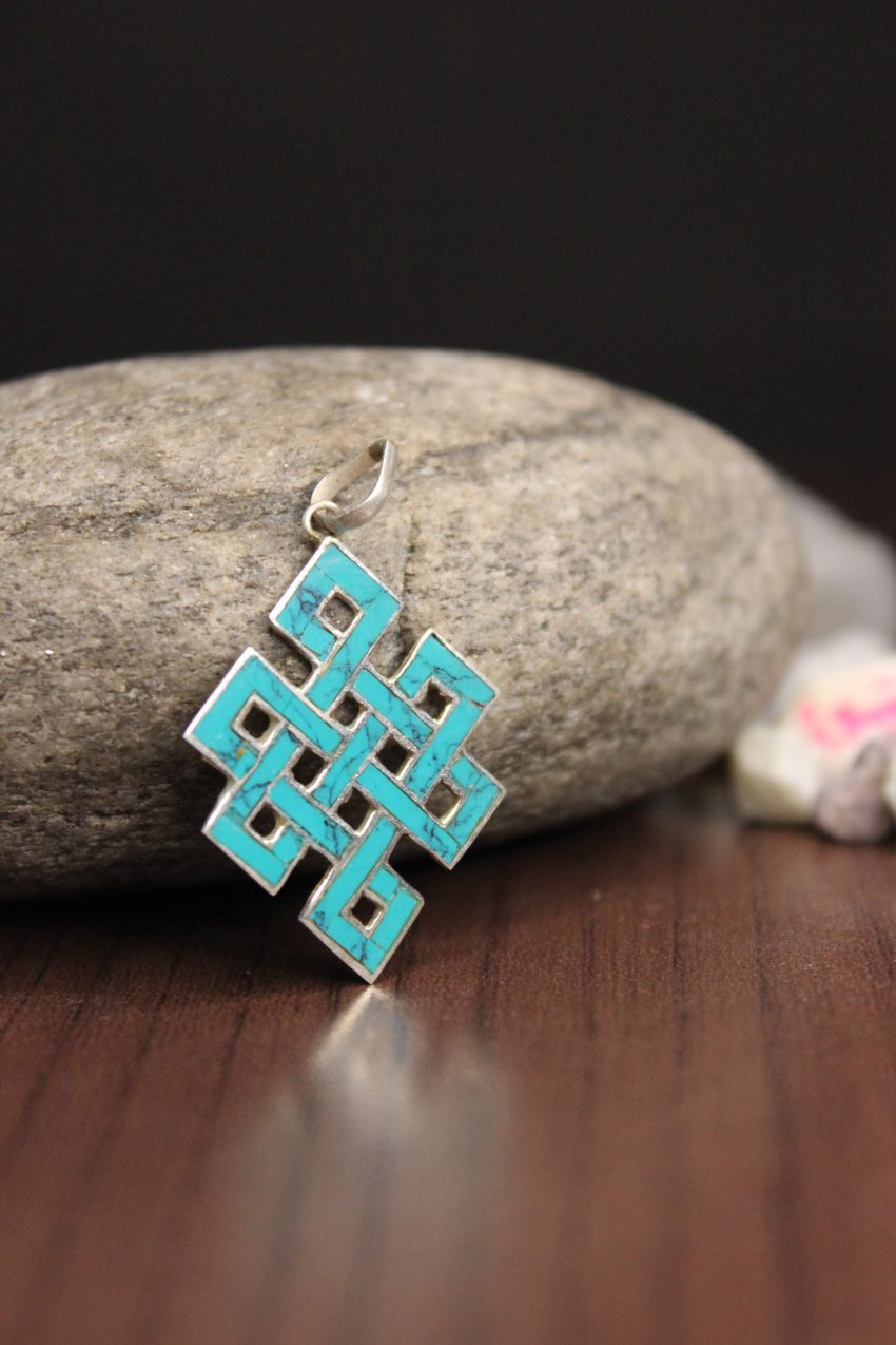 Blue Love Knot Pendants and charm