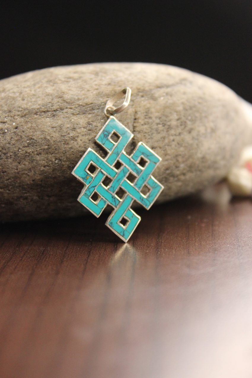 Blue Love Knot Pendants and charms