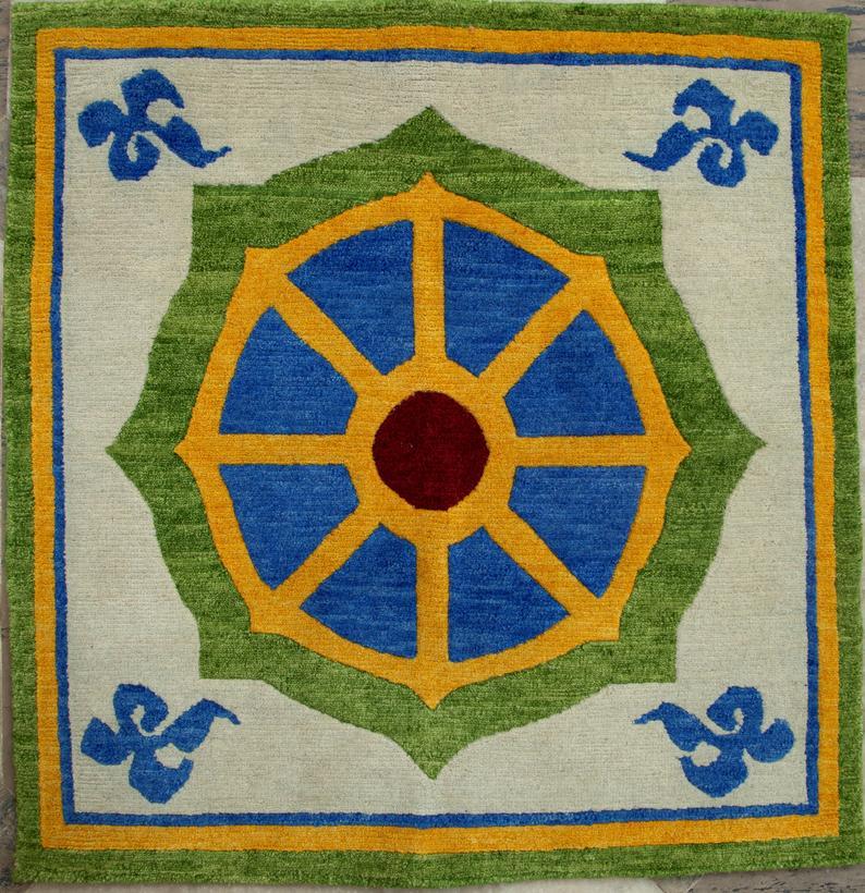 Dharma Chakra Meditation Rug