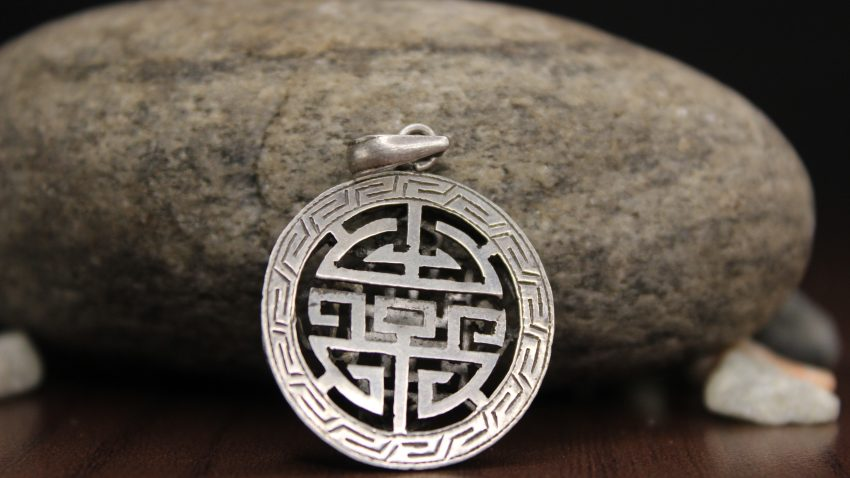 Tibetan Mandala Silver Pendant symbol