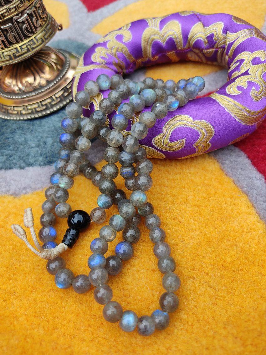 Labrodarite Beads Prayer Mala