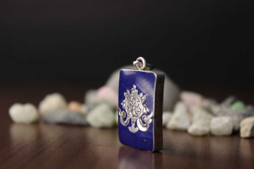 Lotus Flower Lapis Pendant and Gifts
