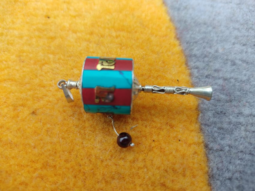 Newari Prayer Wheel Pendant