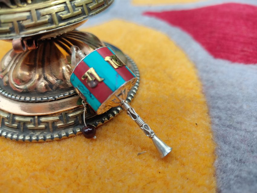 Newari Prayer Wheel Pendant Gift