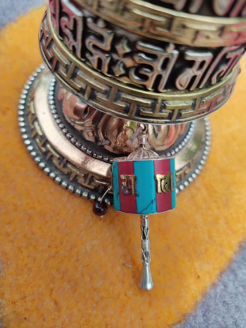 Newari Prayer Wheel Pendant Gifts