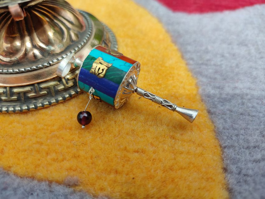 Newari Prayer Wheel Pendant charm