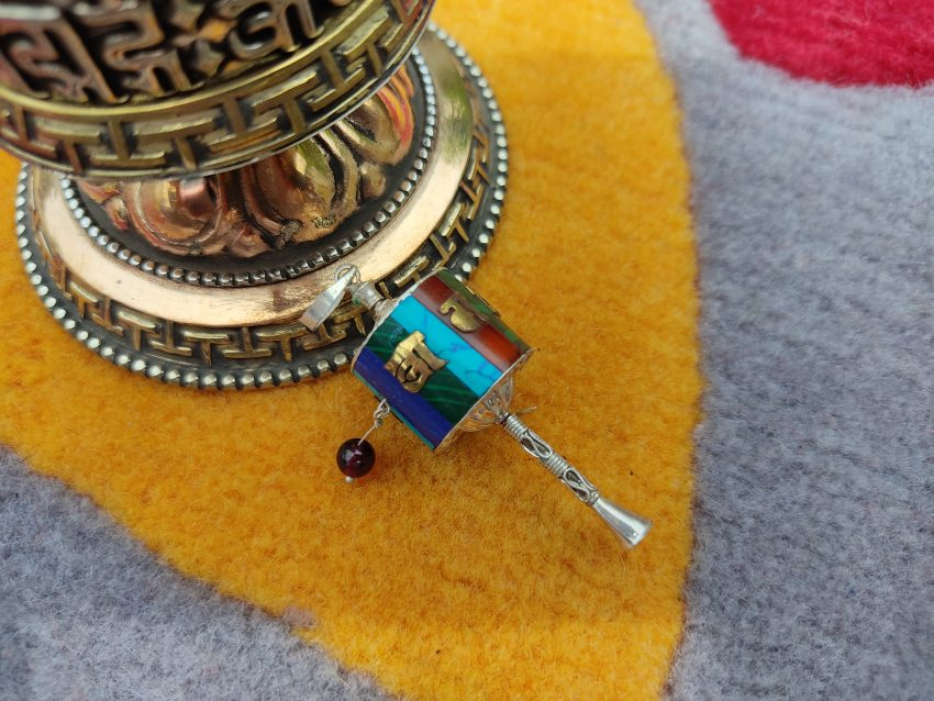 Newari Prayer Wheel Pendant charms