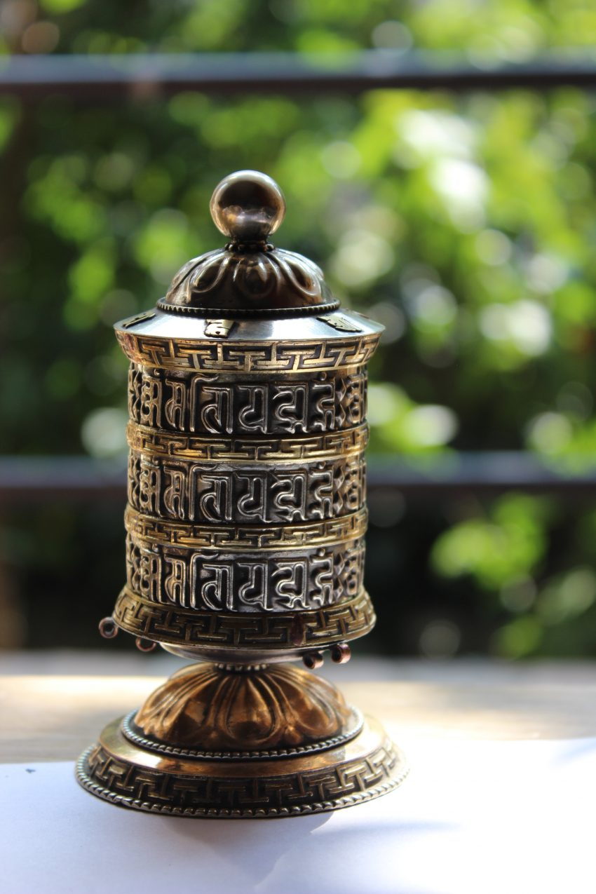 Om mane Mantra prayer wheel