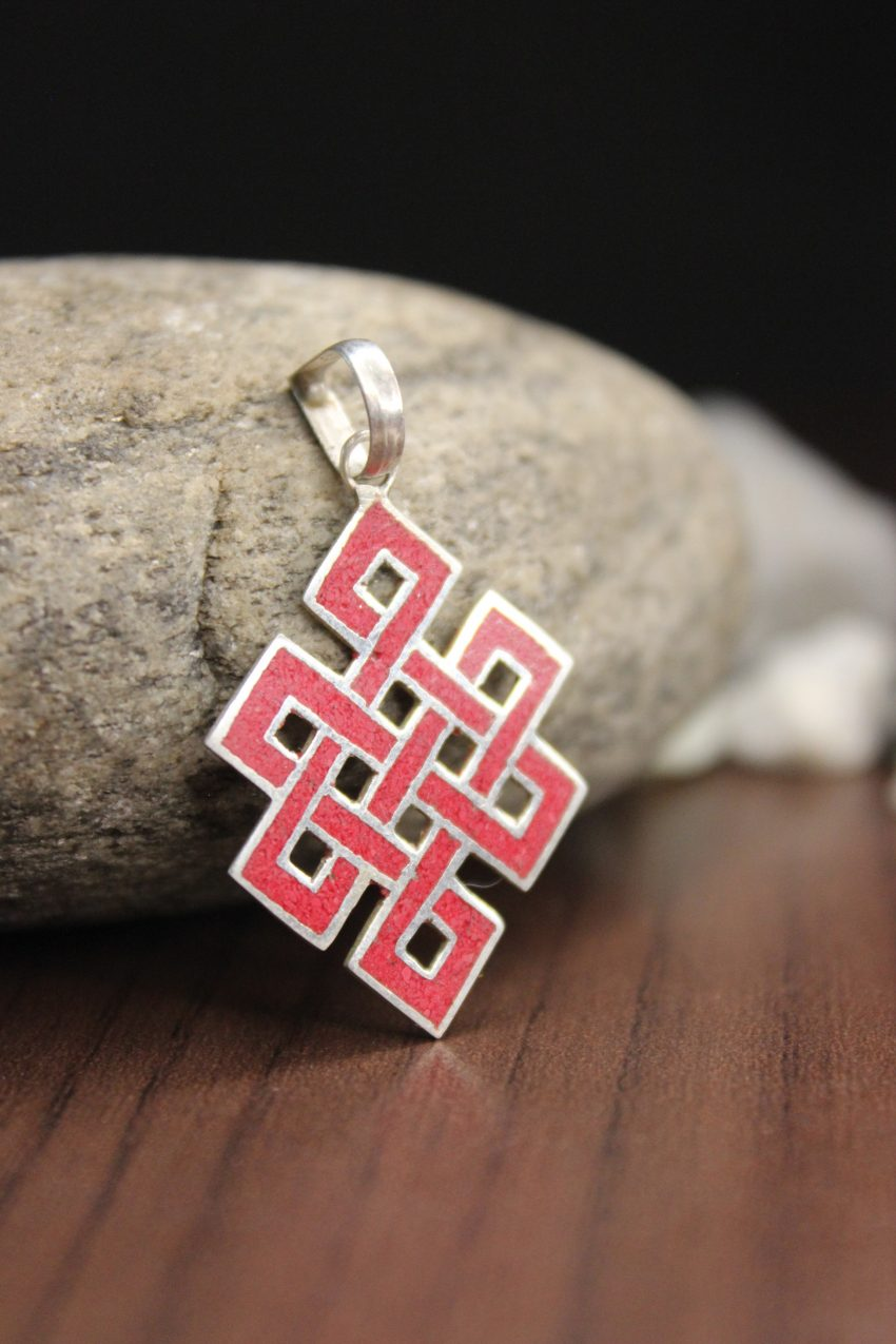 Red Love Knot Pendants