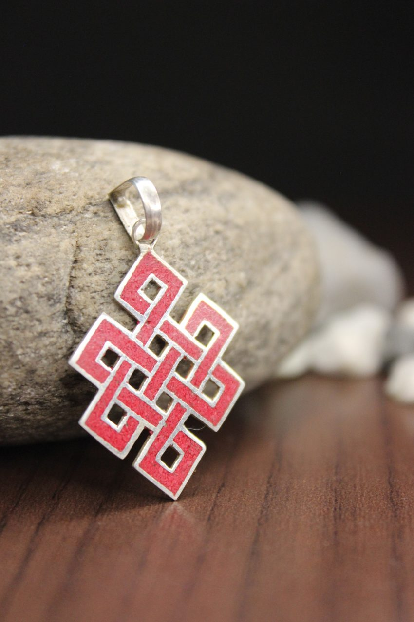 Red Love Knot Pendants and charms