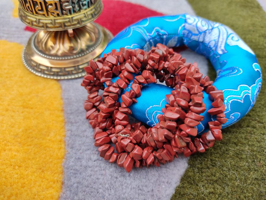 Red Stone Prayer Mala