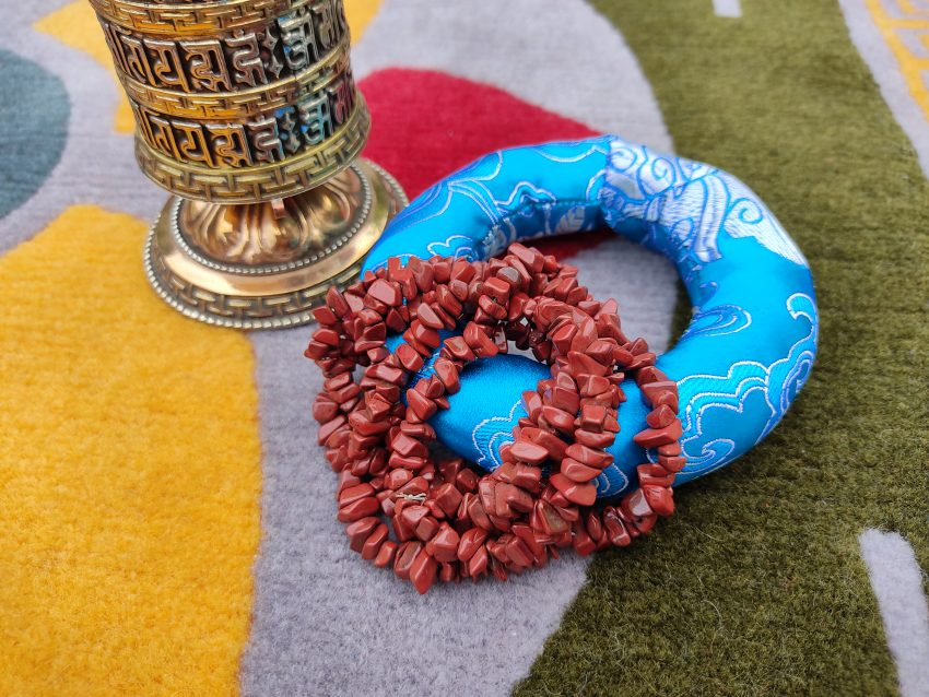 Red Stone Prayer mala gifts