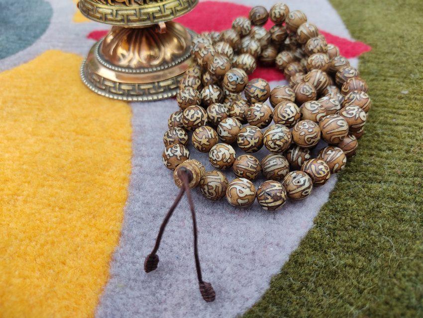 Tibetam Om bone prayer mala gifts