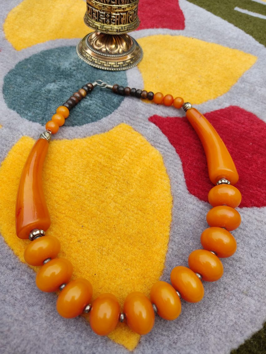 Tibetan Amber BEads NEcklace Gifts