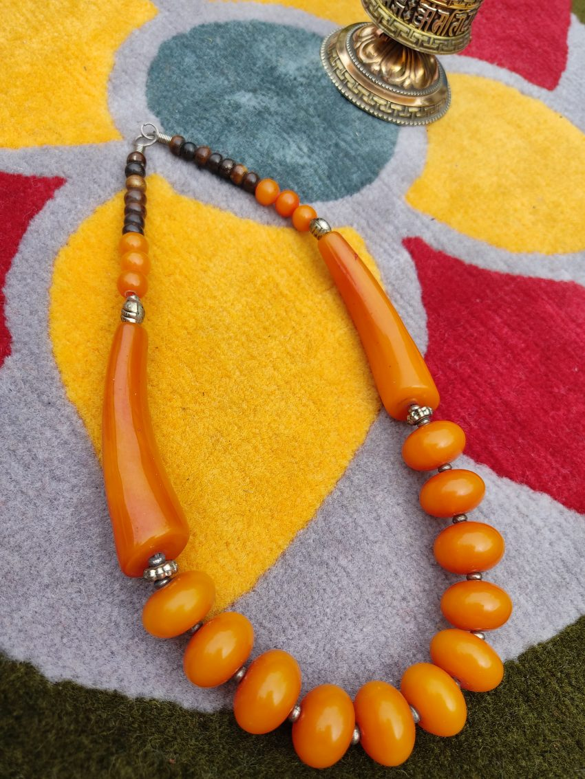 Tibetan Amber Beads NEcklace