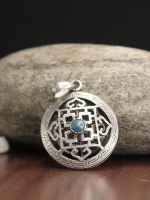 Tibetan Mandala Silver Pendant