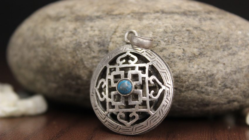 Tibetan Mandala Silver Pendant gifts