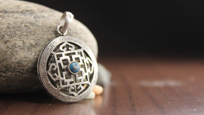 Tibetan Mandala Silver Pendant main