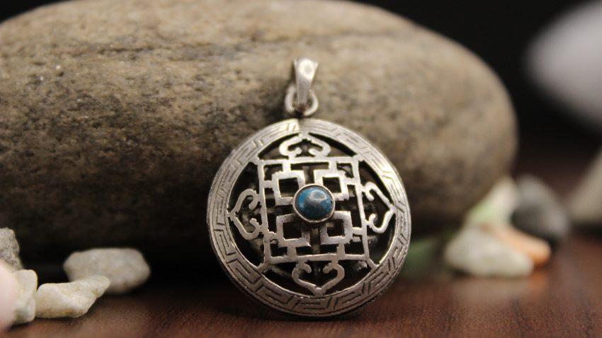 Tibetan Mandala Silver Pendant thumbnail