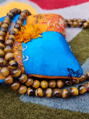 Tiger Eye Prayer Mala meditation gifts